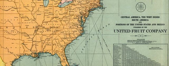 United Fruit Company #Map of Central America and the #Caribbean (1909)