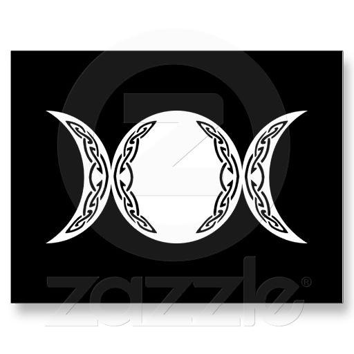 triple goddess moon symbol postcard goddesses great tattoos and triple goddess. Black Bedroom Furniture Sets. Home Design Ideas