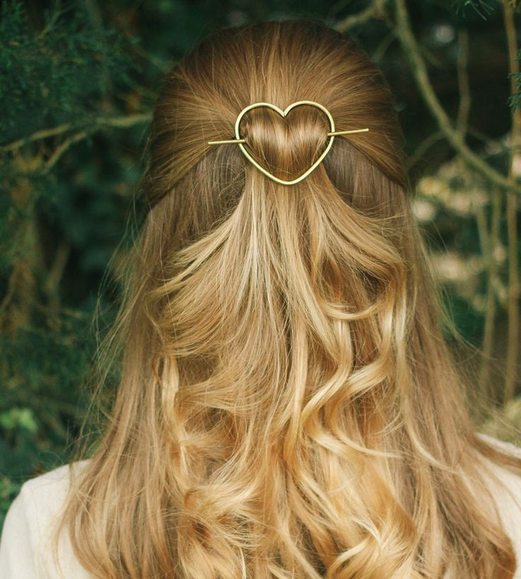 Accessorize your tresses with this sweet metal hair barrette. Each one is hand…