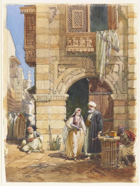 William Simpson, 'Street Scene in Cairo' (1865).