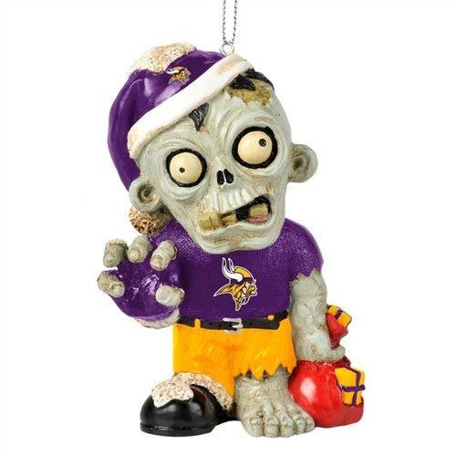 Minnesota Vikings Resin Zombie Ornament