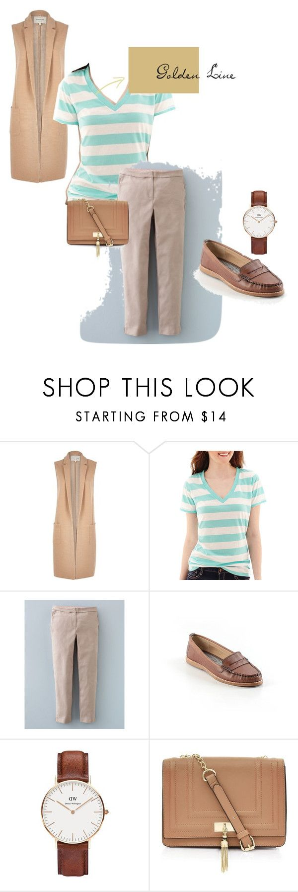 """stripe 6"" by ajriyaf on Polyvore featuring River Island, Arizona, Boden, Splendid and Daniel Wellington"