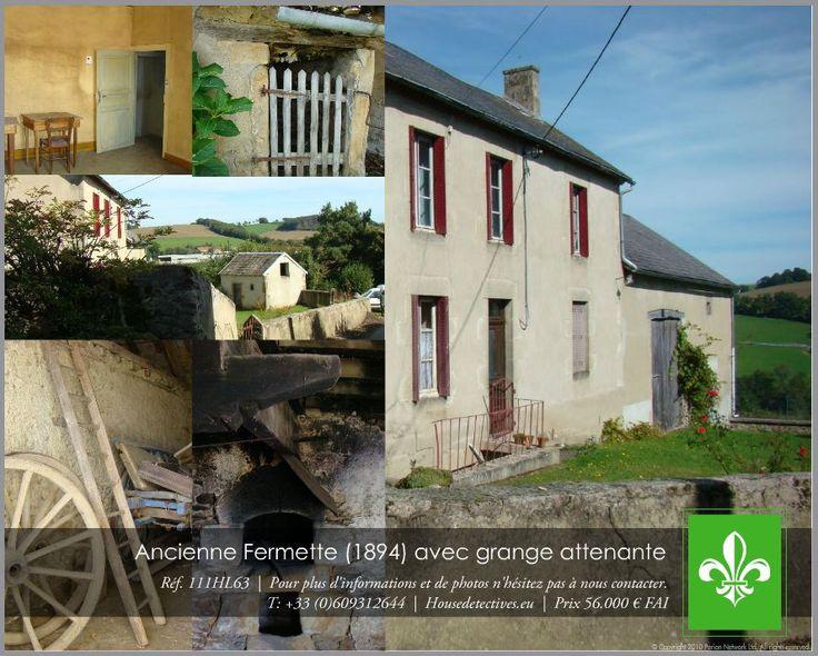 A vendre Ancienne Fermette réf. 111HL63 secteur: les Combrailles / Auvergne / France.  Jovimmo Immobilier représenté par Hetty & Sylvia 'Les Housedetectives'