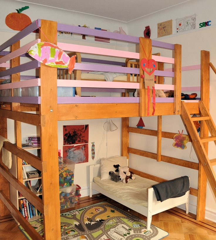 1000 images about play area reading nook loft bed on for Kids bed with play area