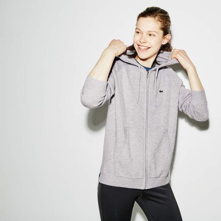 9d7b868301 Women's SPORT Tennis Cashmere Jersey Zip Sweatshirt #sweatshirt ...