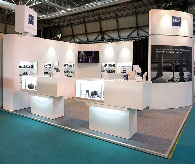 "Attractive Exhibition Display Stand for Carl Zeiss during its participation in Photography Show at Birmingham, UK. Insta provided Card with the best Modular Exhibition Stand made up of our product ""Expo Prestige"". Know more our products and services at http://www.insta-group.com/portable-modular-exhibition-stall-design-company-india.asp"