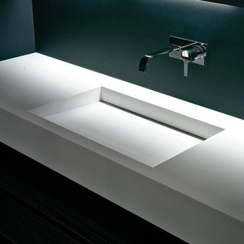 Simple and elegant corian sink Myslot XL by antoniolupi
