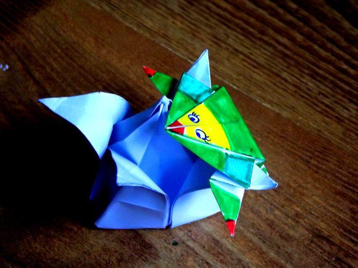 Skacząca żaba origami