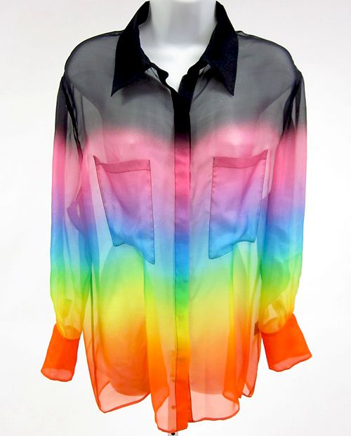 This is kinda cute and caught my eye. I really like how this shirt is sheer and has lots of cheerful bright colors.