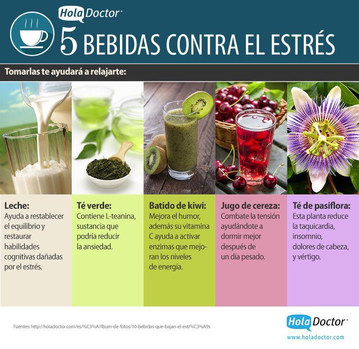 #FueraEstres 5 bebidas contra el estrés