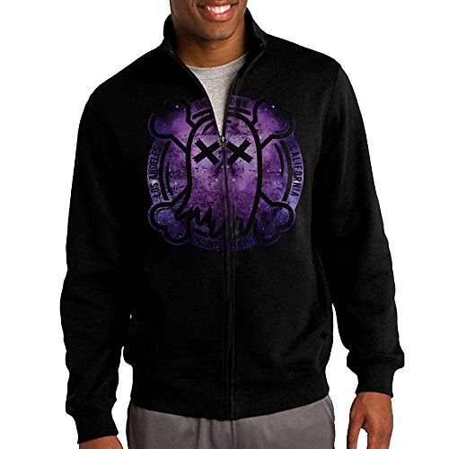 Jacob Mens Sweatshirt Ghost Town Band Fullzip Hoodie Jacket M Black *** Find out more about the great product at the image link.(This is an Amazon affiliate link and I receive a commission for the sales)