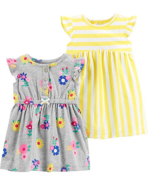 32c1cf92 2-Pack Jersey Dress Set from Carters.com. Shop clothing & accessories from  a trusted name in kids, toddlers, and baby clothes.
