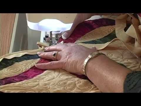 Double Wedding Ring binding video by Shar Jorgenson