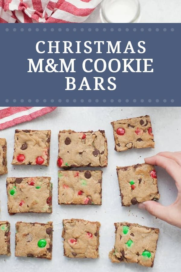 M M Christmas Cookie Bars Recipe Amazing Food Bloggers