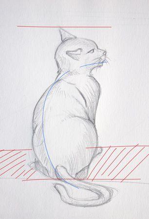 Les 25 meilleures id es de la cat gorie dessin de chat sur - Dessin chat assis ...