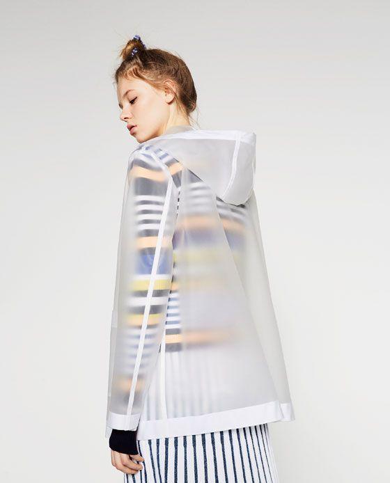 Image 4 of TRANSPARENT RAINCOAT from Zara