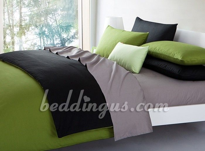 green and grey bedding sets