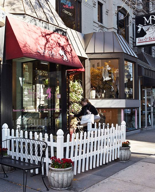 .Cake Recipe Just, Cake Shops, Sarah Pastries, Classic Cake, Traditional Home, Charms Shoppe, Chicago Stores Front, Storefront Hotels, White Picket Fence