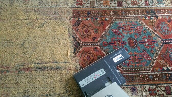 Rug cleaning, step 5.