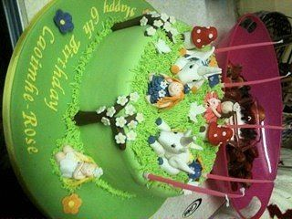 Fairy and unicorn cake