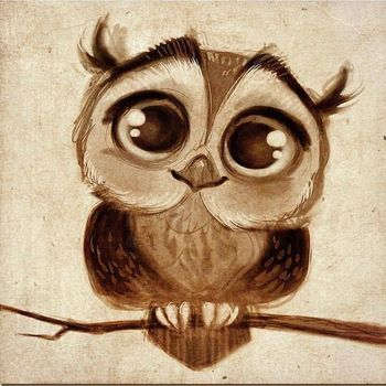 Custom Artworks 2015 New Design Hand Painted Modern Abstract Funny Animal Oil Painting On Canvas Big Eyes Cartoon Owl Paintings: