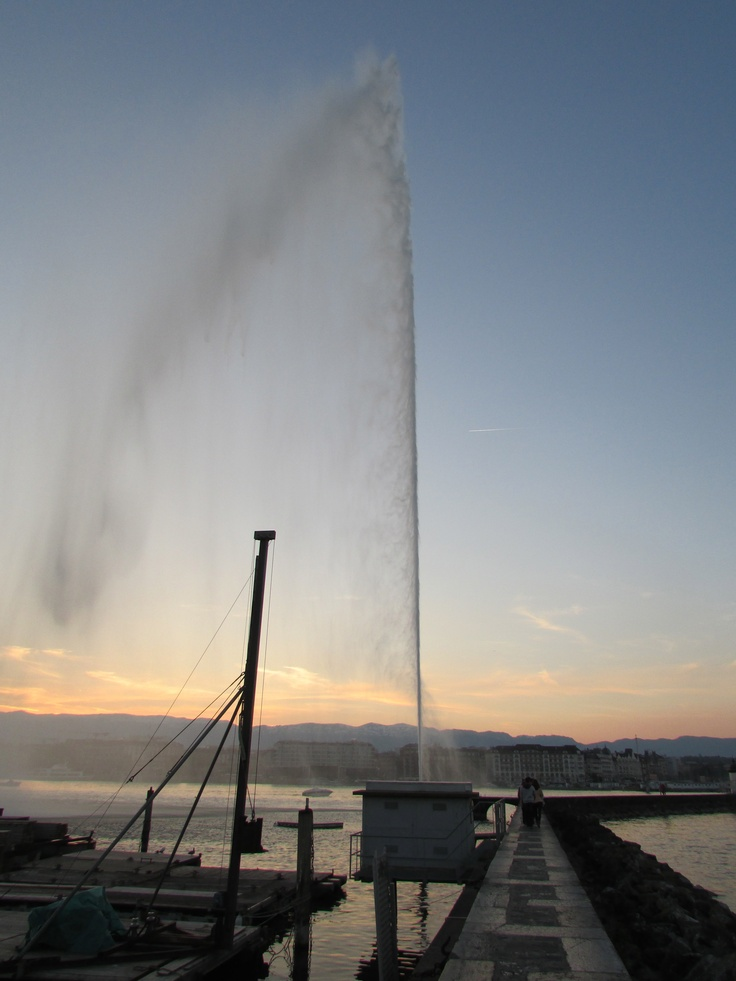 Magnificent - The fountain of Lake Geneva is a unique and memorable place and I am so lucky to have seen this amazing sight close up! This photo can only be described as Magnificent!