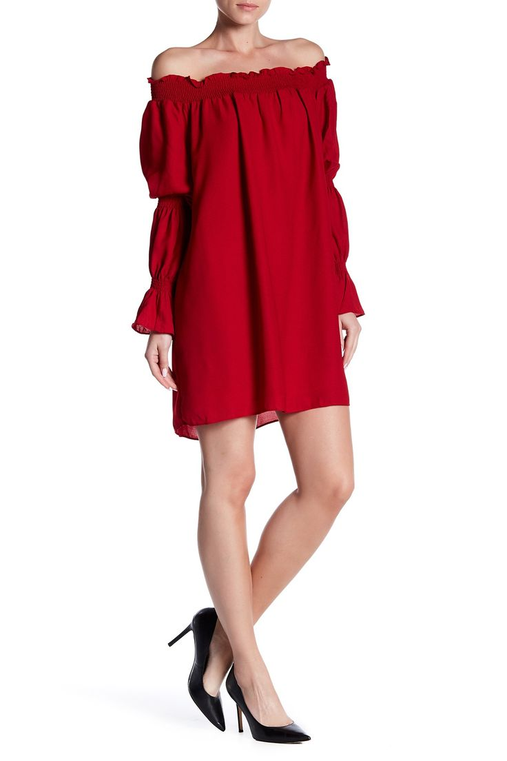 Off-the-Shoulder Mini Dress by Symphony on @nordstrom_rack