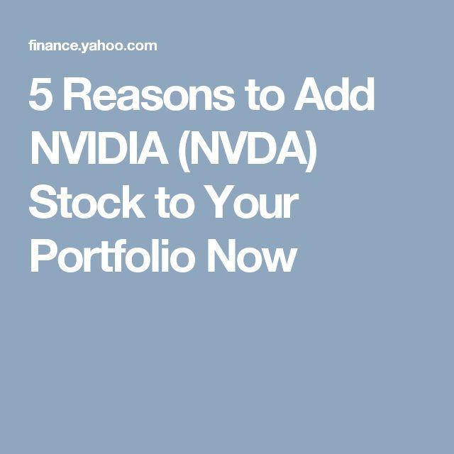 5 Reasons to Add NVIDIA (NVDA) Stock to Your Portfolio Now