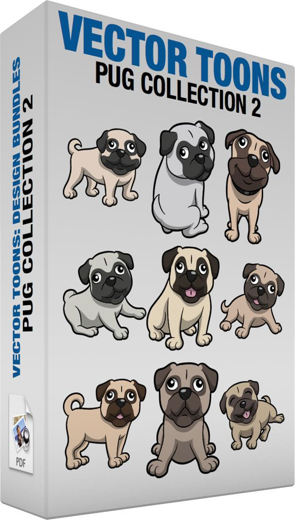 Pug Collection 2 :  Bundle of images includes the following:  A very cute and happy pug dog A small dog with off white colored short fur short curled tail dark gray muzzle droopy ears and circle around the eyes smiles while looking ahead  A serious looking Pug looking over its shoulder A small dog with silver gray short fur short tail dark gray muzzle droopy ears and circle around the eyes sits on the floor while looking back  A smiling little brown Pug dog A small dog with light beige…