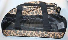Small Pet Carrier Cat/Dog Comfortable Travel Shoulder Bag Soft Sided Leopard