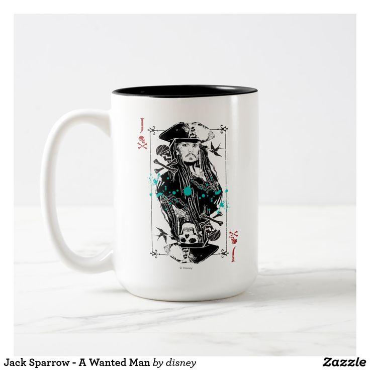 Jack Sparrow - A Wanted Man. Regalos, Gifts. Producto disponible en tienda Zazzle. Tazón, desayuno, té, café. Product available in Zazzle store. Bowl, breakfast, tea, coffee. #taza #mug