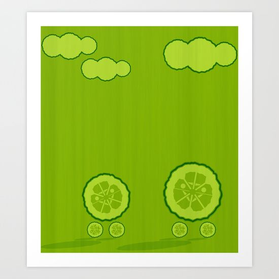 Dos pepinos. Kids print, cucumbers, illustration