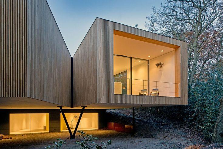 modern facade wood decoration