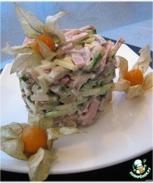 Салат с языком Люблю язык в любом виде, а в салатах тем более. Попробуйте этот сочный, нежный, пикантный салатик.