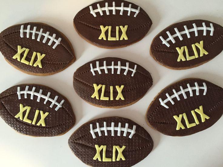 Superbowl Football Gingerbread Cookies