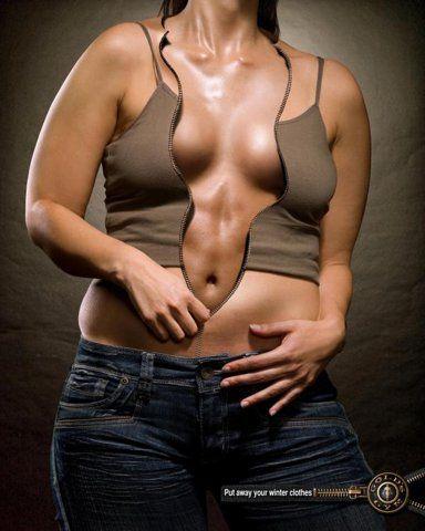 "Publicidad impresa ""WOMAN"" para Gym hecho por Pragma DDB"