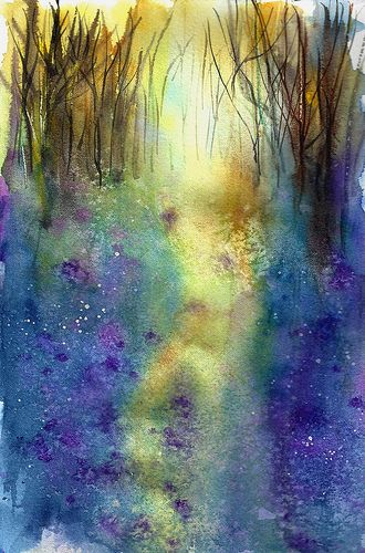 ann blockley | Bluebell Woods Inspired by Ann Blockey , a photo by linfrye on Flickr.
