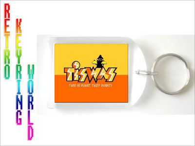 Tiswas - retro UK TV Keyring free UK P - Retro TV keyring / keychain. ONLY  £1.99 Low cost Worldwide shipping