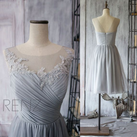 Grey Bridesmaid Dress / http://www.deerpearlflowers.com/grey-fall-wedding-ideas/