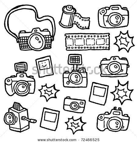 doodle cameras - stock vector   *mos*