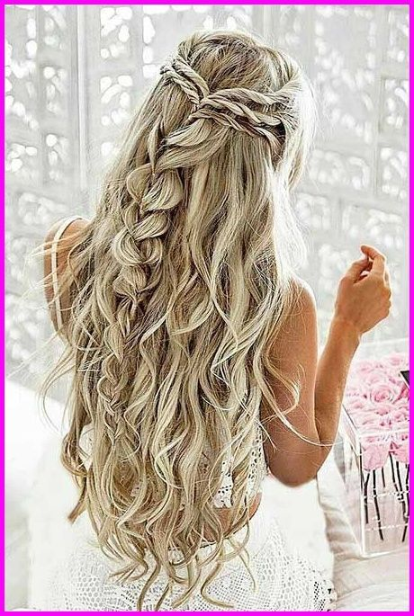 Wedding, Half, Up, Waterfall | Graduation Ball ♡ in 2018 … | # Flechtfrisur2019 #styles #end hairstyles #new hairstyles