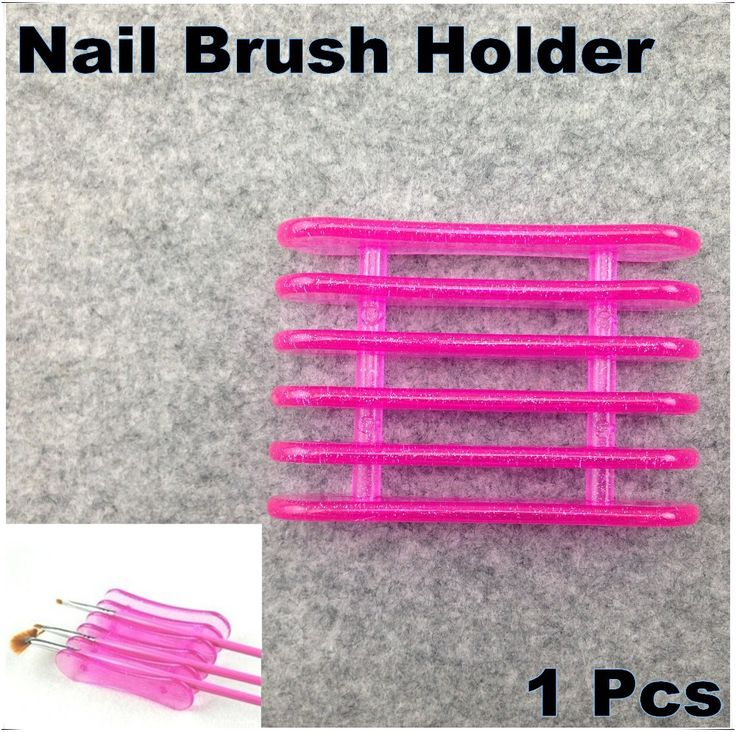 Good Quality Rose Red Nail Art Brushes Pen Holder Stand For 5pcs Makeup Nail Art Brush Tools + Free Shipping (NR-WS9)