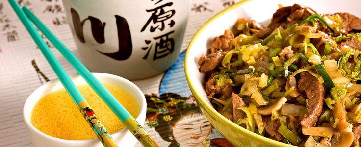 Det er ikke hvilken som helst japansk rett, men rett og slett nasjonalretten sukiyaki. Utmerket fredagskos.