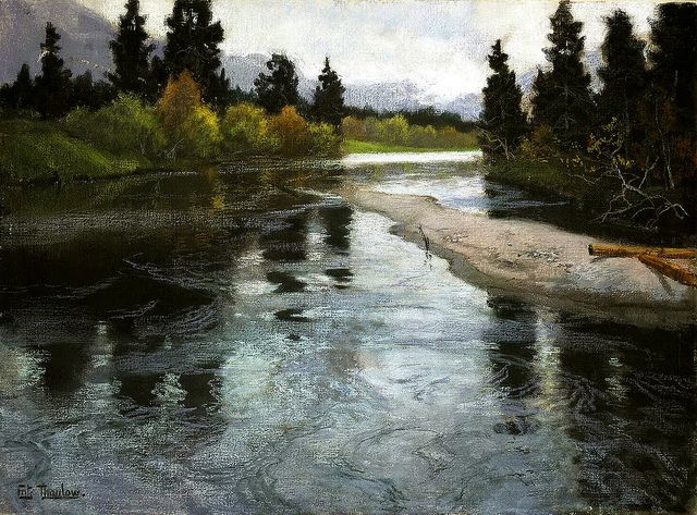 Frits Thaulow - River [c.1883]