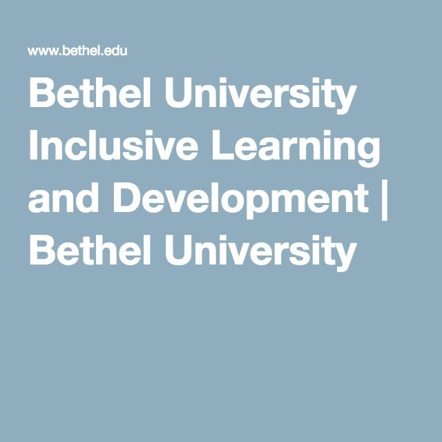 Bethel University Inclusive Learning and Development | Bethel University