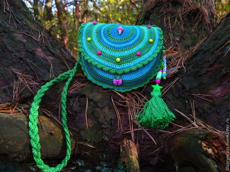 """Купить Сумочка именная """"Настя"""" детские сумки - бирюзовый, ярко-зелёный, голубой, изумрудный"""