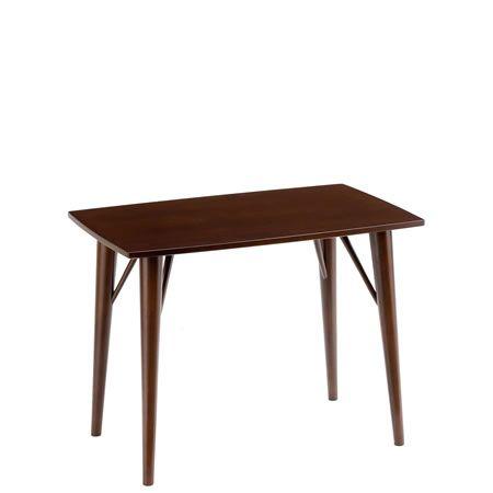 天然木ダークブラウン/リビングテーブル高さ60(マイアン材)[幅75x奥行48]|エスコート6209|AK-ESC-6209|ESC-6209