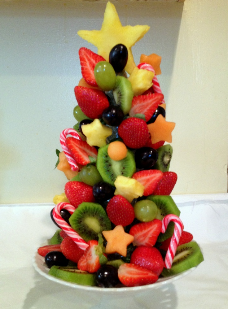 Christmas fruit centerpiece
