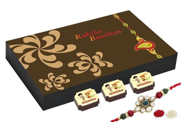 Rakhi gift online - 12 Chocolate Gift Box - Rakhi gift for sister
