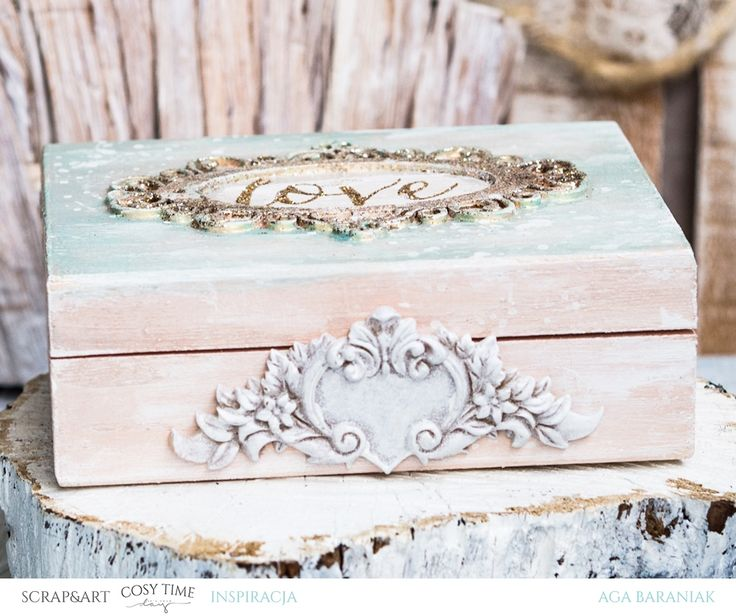 shabby chic box with Prima Marketing products / finnabair paints